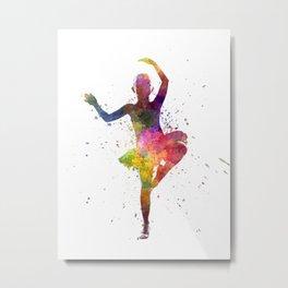 Little girl ballerina ballet dancer dancing Metal Print