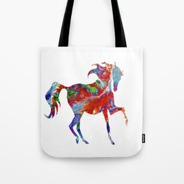 Horse Colorful Silhouette Tote Bag