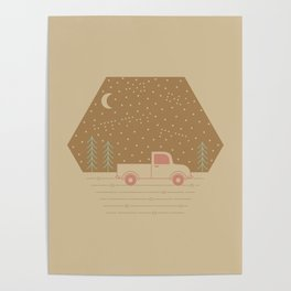 Vintage Happiness on a Dirt Road Poster