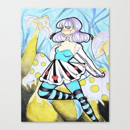 Alice in Winterland Canvas Print