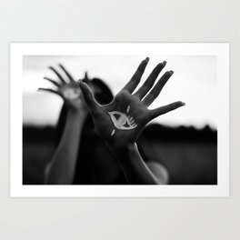 Seeing is Touching - Wide Art Print