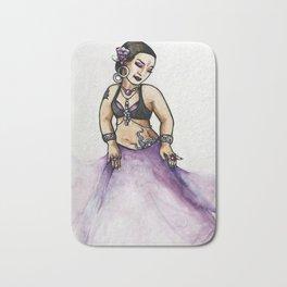 Jessie Purple Belly Dancer Bath Mat