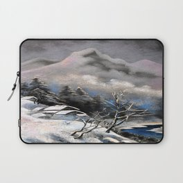 Winter village in the mountains Laptop Sleeve