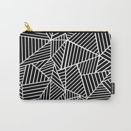 Ab Lines Black on White Carry-All Pouch