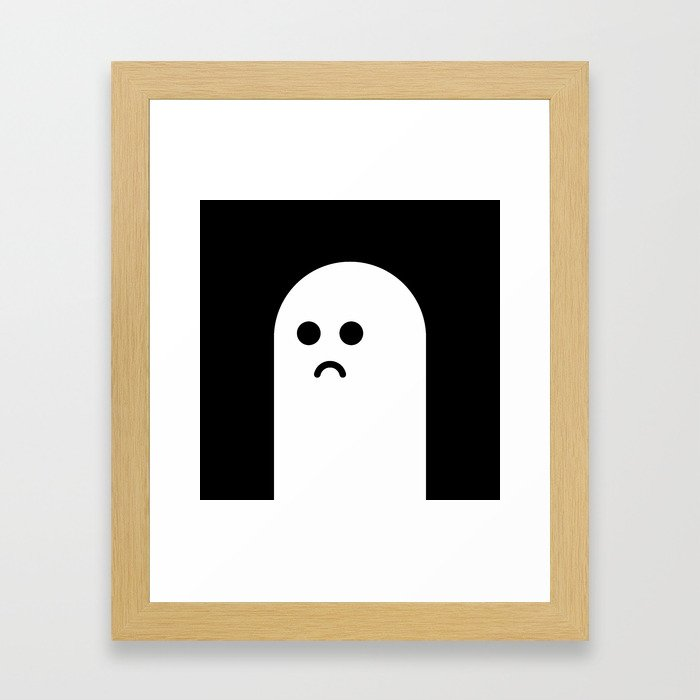 Sad Ghost Framed Art Print