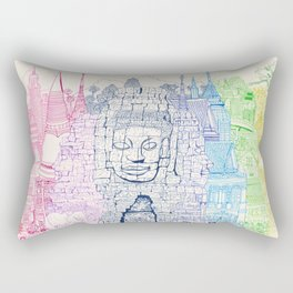 Angkor Wat & Thailand Rectangular Pillow