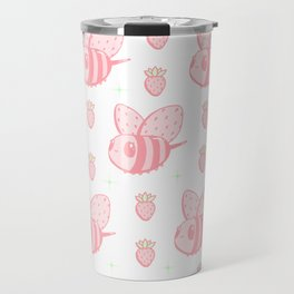 Strawberry Bee Travel Mug
