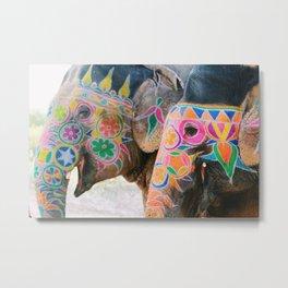 Elephant Village  Metal Print