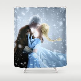 First Kiss (color) Shower Curtain