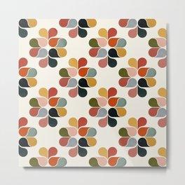 Retro geometry pattern Metal Print