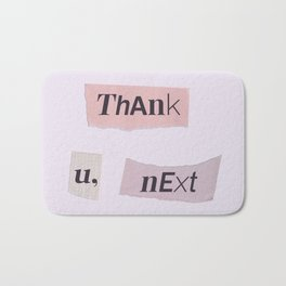 thank you next - Ariana - white Bath Mat