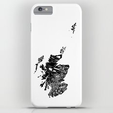 Typographic Scotland European map art iPhone 6s Plus Slim Case