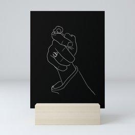 Alas, Poor Sparrow! | White on Black Mini Art Print