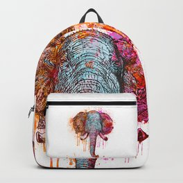 Watercolor Elephant Head Backpack