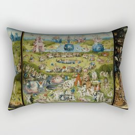 The Garden Of Earthly Delights (Extreme High Quality) Rectangular Pillow