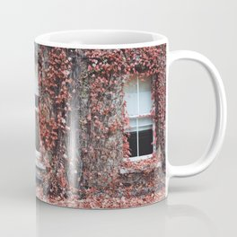 IVY - BUILDING - RED - LEAVES - WINDOW - PHOTOGRAPHY Coffee Mug