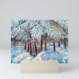 Snow in October by Dennis Weber / ShreddyStudio Mini Art Print