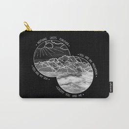 mountains-biffy clyro (black version) Carry-All Pouch