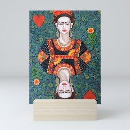 Frida, queen of Hearts Mini Art Print