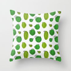 Green Cactus pattern Throw Pillow
