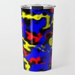 Red, Yellow, Blue Travel Mug