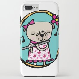 Pug with Flute iPhone Case