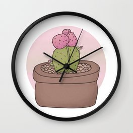 Moon Cactus Guardians Wall Clock