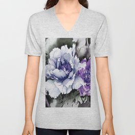 FLOWER PAINTING1 Unisex V-Neck