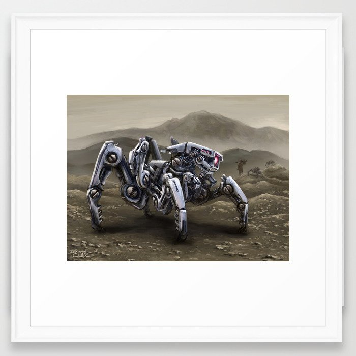 Spiderbot Framed Art Print