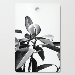 Black and White Leaves Cutting Board