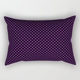 Black and Winterberry Polka Dots Rectangular Pillow