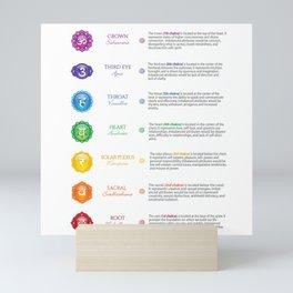 Seven Chakra Chart & Symbols #24 Mini Art Print