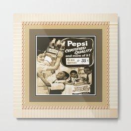 pepsi (vintage ad/African American) Metal Print