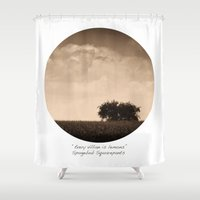 inspirational Shower Curtains featuring Inspirational by mJdesign