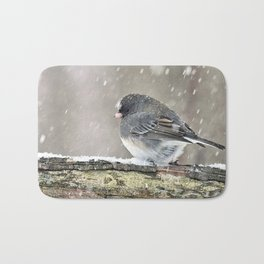 Once Upon a Snow Bird: Junco Bath Mat