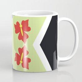 CVF0070 Folk Art Flowers Abstract Green Purple Red Green Yellow Coffee Mug