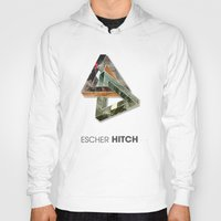 escher Hoodies featuring escher hitch by Vin Zzep