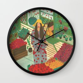 Local Green Grocery Wall Clock