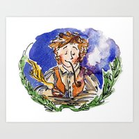 hobbit Art Prints featuring Hobbit by Kris-Tea Books