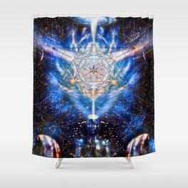 The Cosmic Creator Shower Curtain