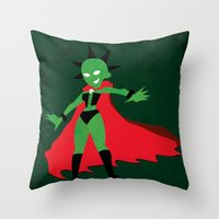 lydia martin Throw Pillows featuring Lydia by JHTY