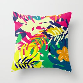 Tropical voyage Throw Pillow