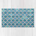 Mermaid Scales in Teal and Rose Gold by blueskywhimsy