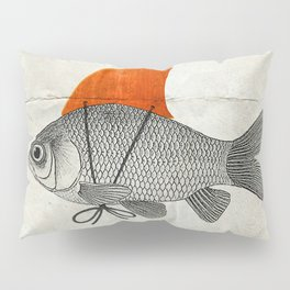 Goldfish with a Shark Fin Pillow Sham