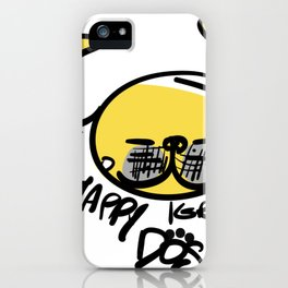 Yellow Dog Year iPhone Case
