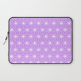 Mauve Flowers and Florals Isosceles Triangle Laptop Sleeve