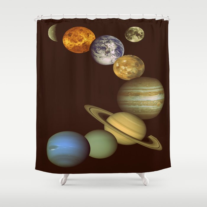 The Solar System Shower Curtain By Me101