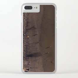The Shadows of People Dot the Beach Clear iPhone Case