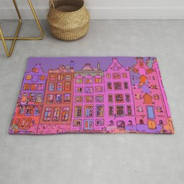 Canal houses Amsterdam the Netherlands Rug