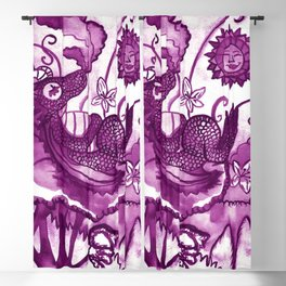 Dragon´s visit - Purple Blackout Curtain